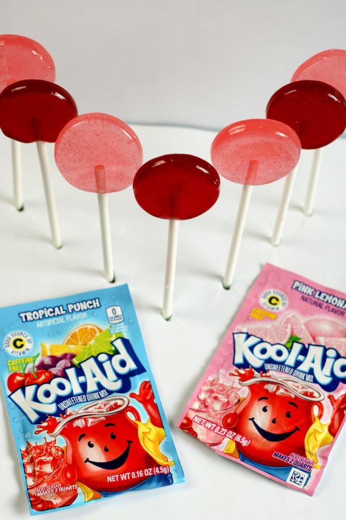 Finished koolaid lollipops