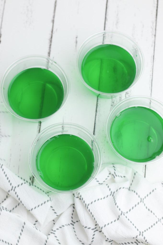 green jello cups
