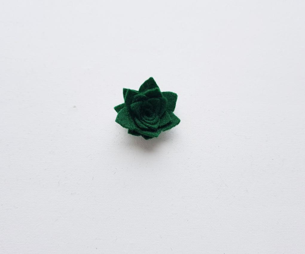 Felt faux Succulent Flower